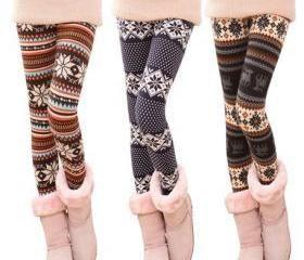 Snowflake Winter Warm Leggings