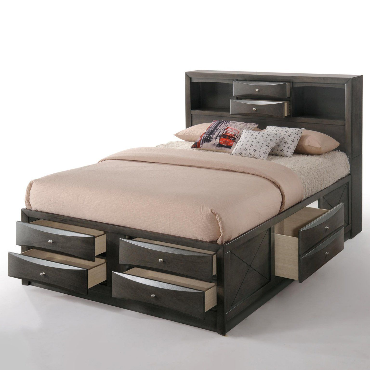 Acme Furniture Ireland Platform Bed Storage bed queen