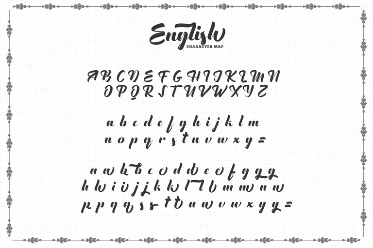 The English Font Vintage Lettering อักษร
