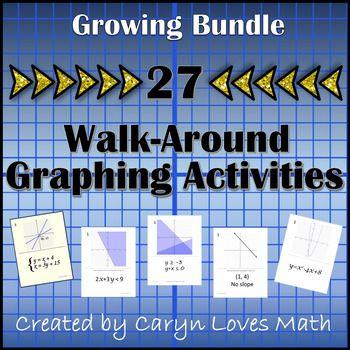 Graphing Bundle 36 Walk Around Activitieslinearquadratic
