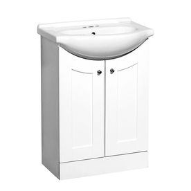Bathroom Vanity 24 X 17 style selections euro vanity white belly bowl single sink