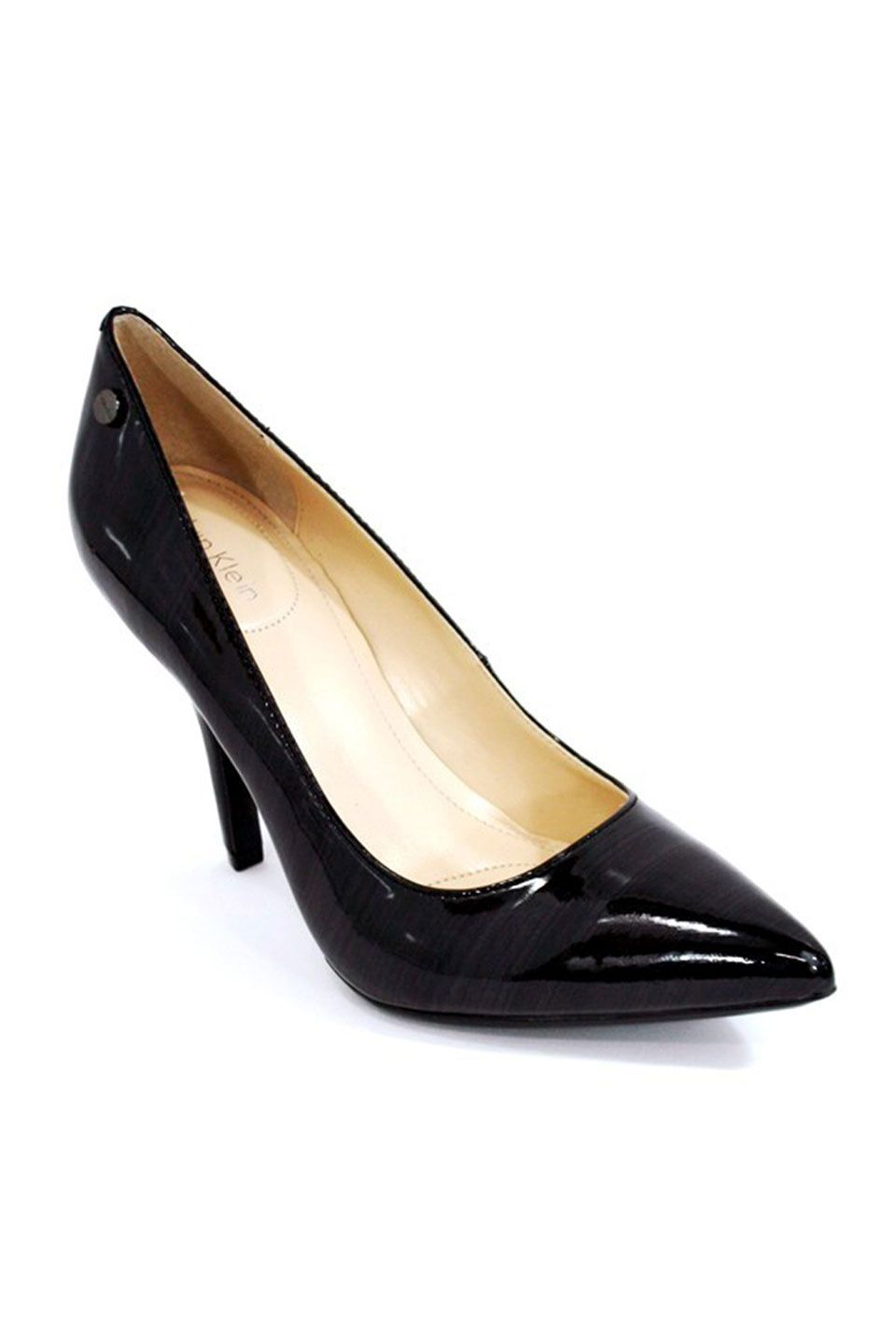 Calvin Klein Natalie Leather Pump In Black Crazy Shoes Leather Pumps My Style