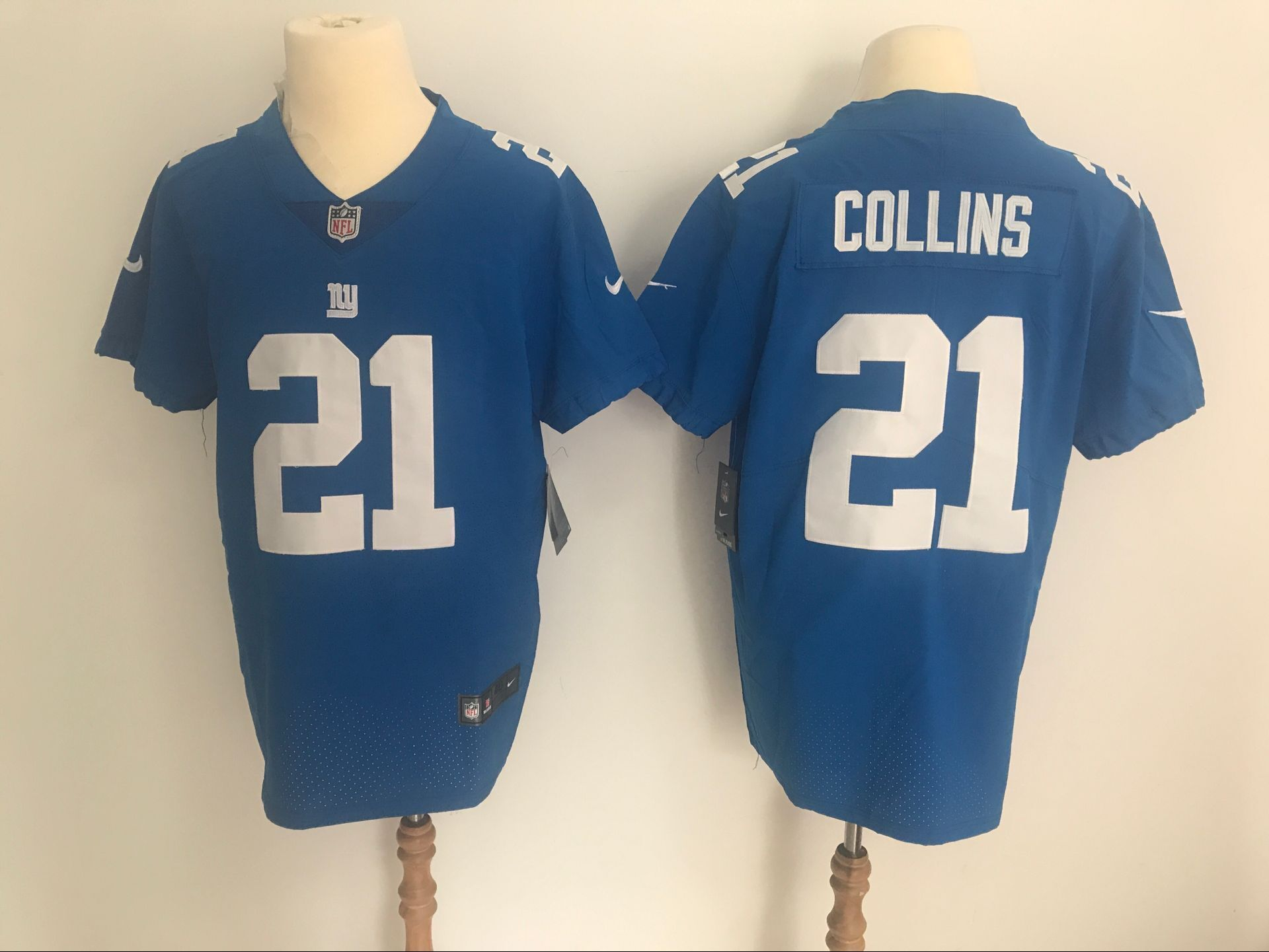 reputable site 93e06 bd534 nike giants 21 landon collins white mens stitched nfl ...