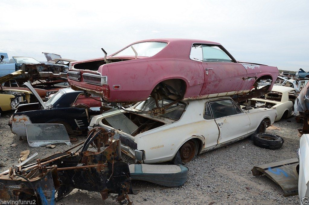 1960s 70s Mercury Cougars Junk Yard 8 X 10 Photograph Found Rhpinterest: Muscle Car Junkyard Parts At Cicentre.net