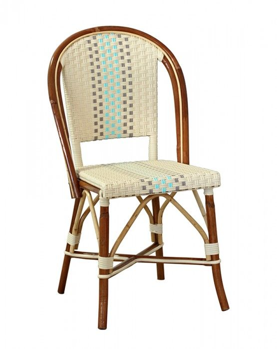 Beaufurn FB 220 French Bistro Chair In Pattern: (AA) Weave In Ivory