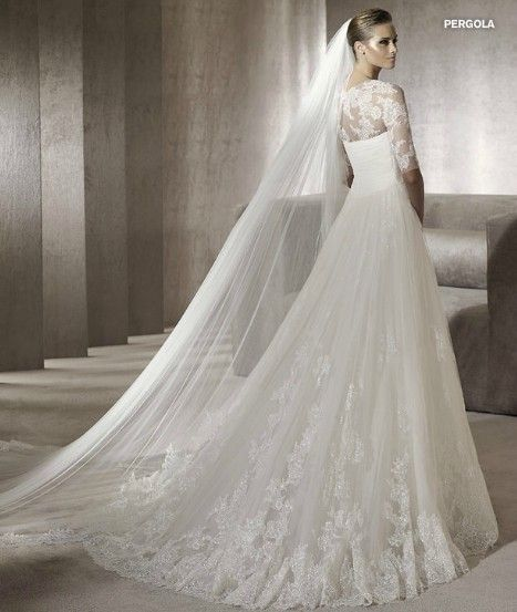 2012 Designer Vintage Lace Wedding Dress with Jacket 9282 ...