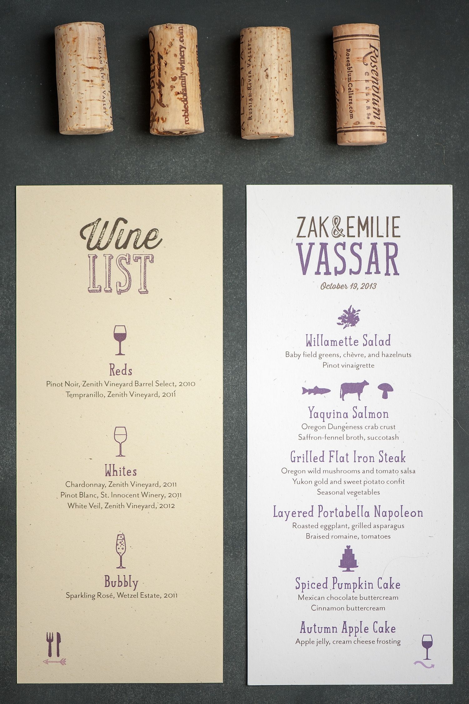 willamette wedding invitations by three little words 2 sided