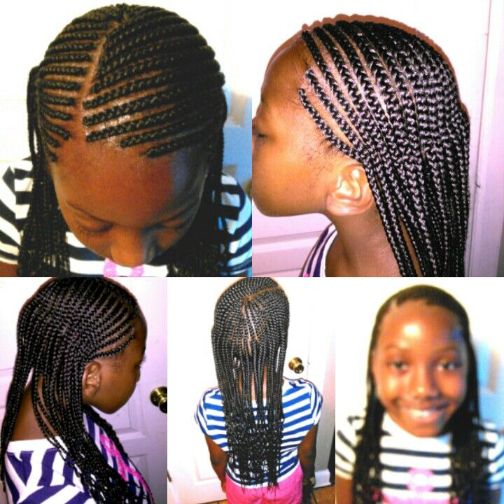 Layered Cornrows Little Girl Braid Styles Kids Hairstyles Little Girl Braids