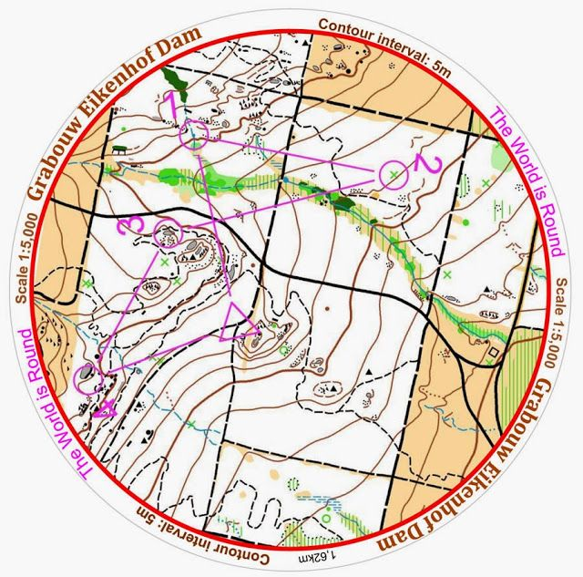SETTING the orienteering MAP practice for experienced orienteers I suspect. Circular orienteering map with north lines removed - better keep that map set!! Another fab idea from AdventureLisa: orienteering.