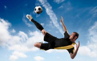 Soccer Flying Kick Football Full Hd Wallpaper Soccer Soccer Post Sports