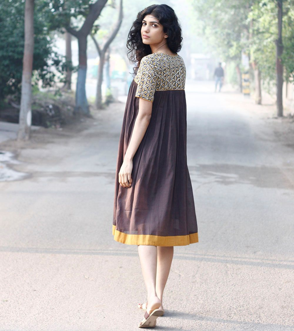 eeadb10c9 Grey boho frock by KharaKapas on Etsy Eco Clothing, Western Outfits, Indian  Outfits,