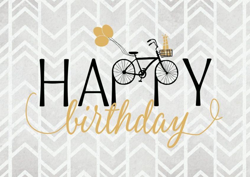 Happy Birthday Mit Fahrrad Geburtstagskarten Spruche