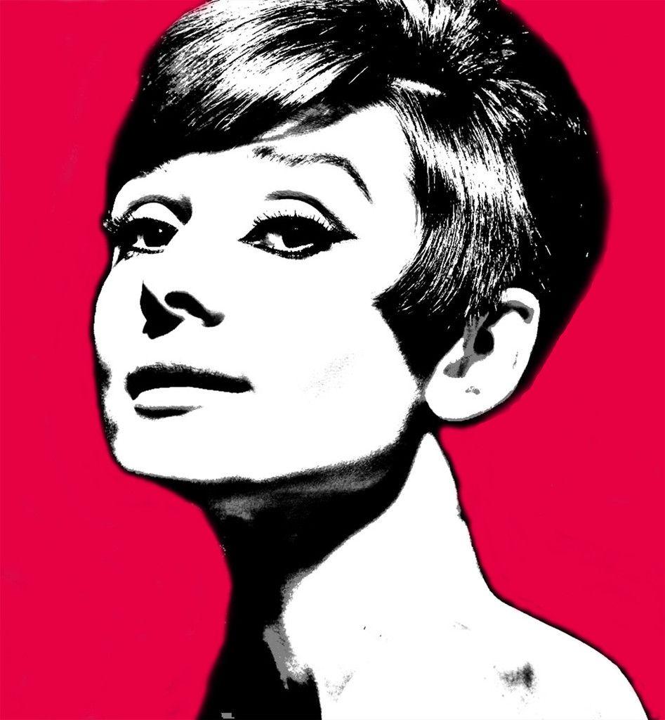Audrey Hepburn Pop Art Pink for sale! Instant download. #art #artforsale #popart #andywarhol #marketing #marketart #artists