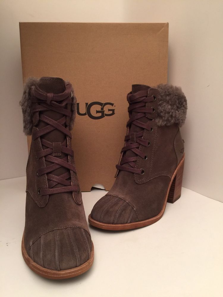 9f6a8636fb3 Ugg Jaxon Suede Heel Boots Size EU 38 NEW #fashion #clothing #shoes ...