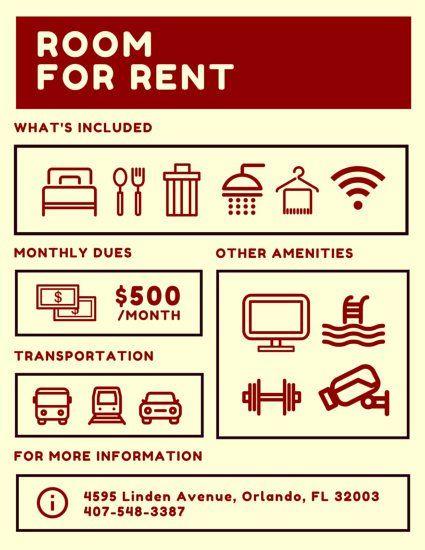 Room For Rent Flyer Rooms For Rent Rent Flyer