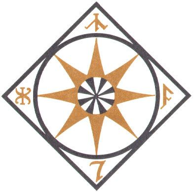 Compass Symbol From The Atlas Of Middle Earth Jrr Tolkien D
