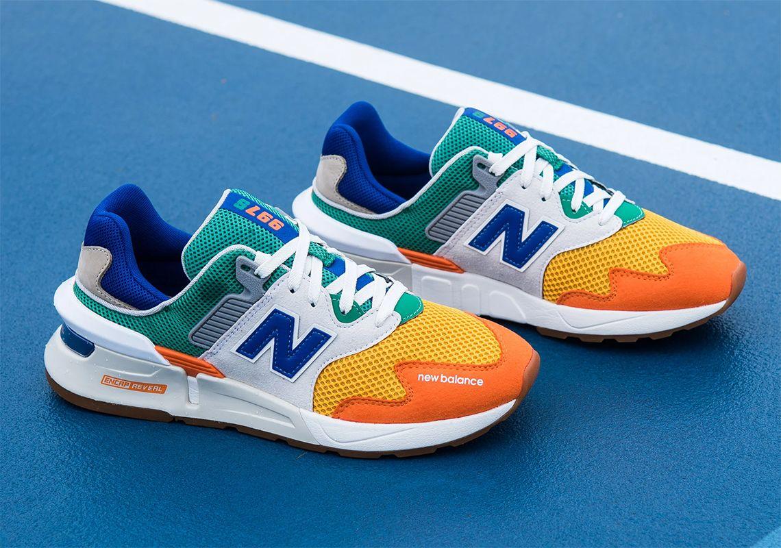 orange new balance trainers