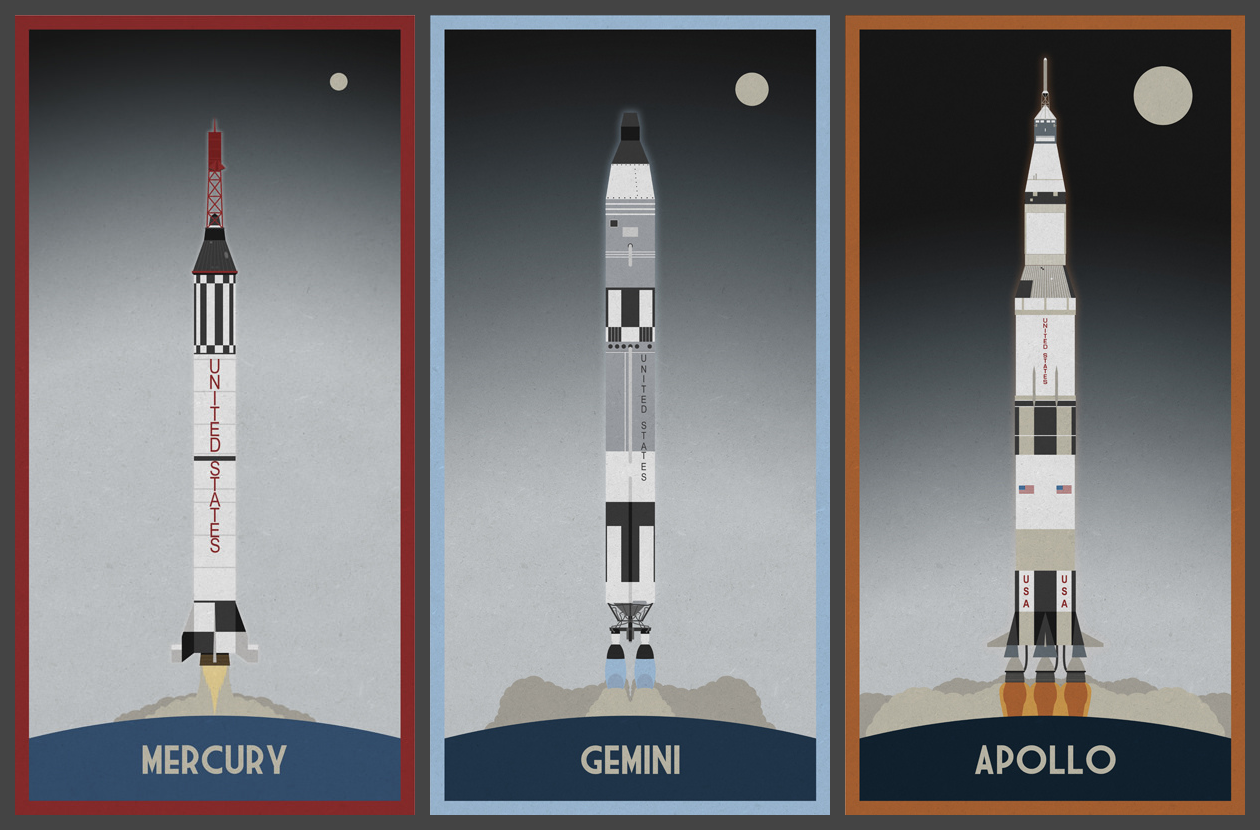 Mercury, Gemini and Apollo Rockets | Apollo rocket, Space and astronomy,  Space drawings