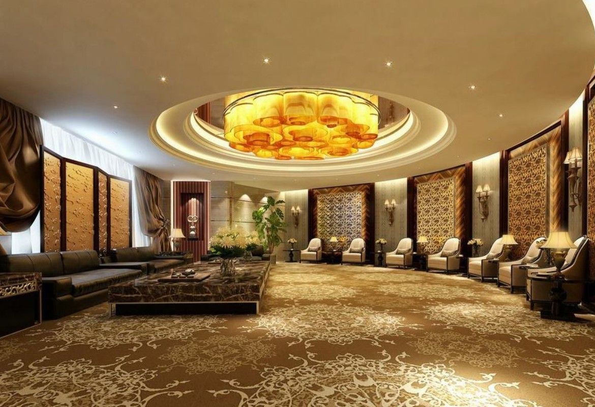 Circular reception hall decorating ideas with luxury false Married to design