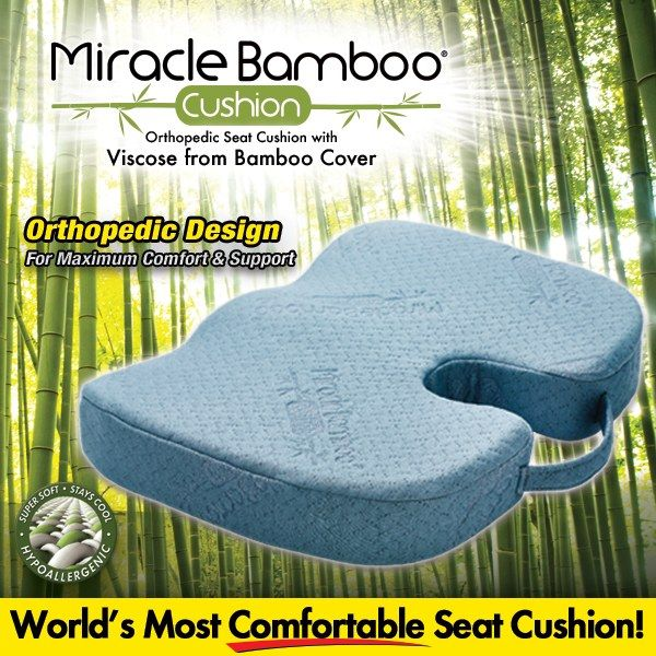 16 95 Miracle Bamboo Cushion Seat Chair Orthopedic Asotv Miracle Bamboo Cushion Seat Chair Orthopedic As Cushions Bamboo Seat Cushions