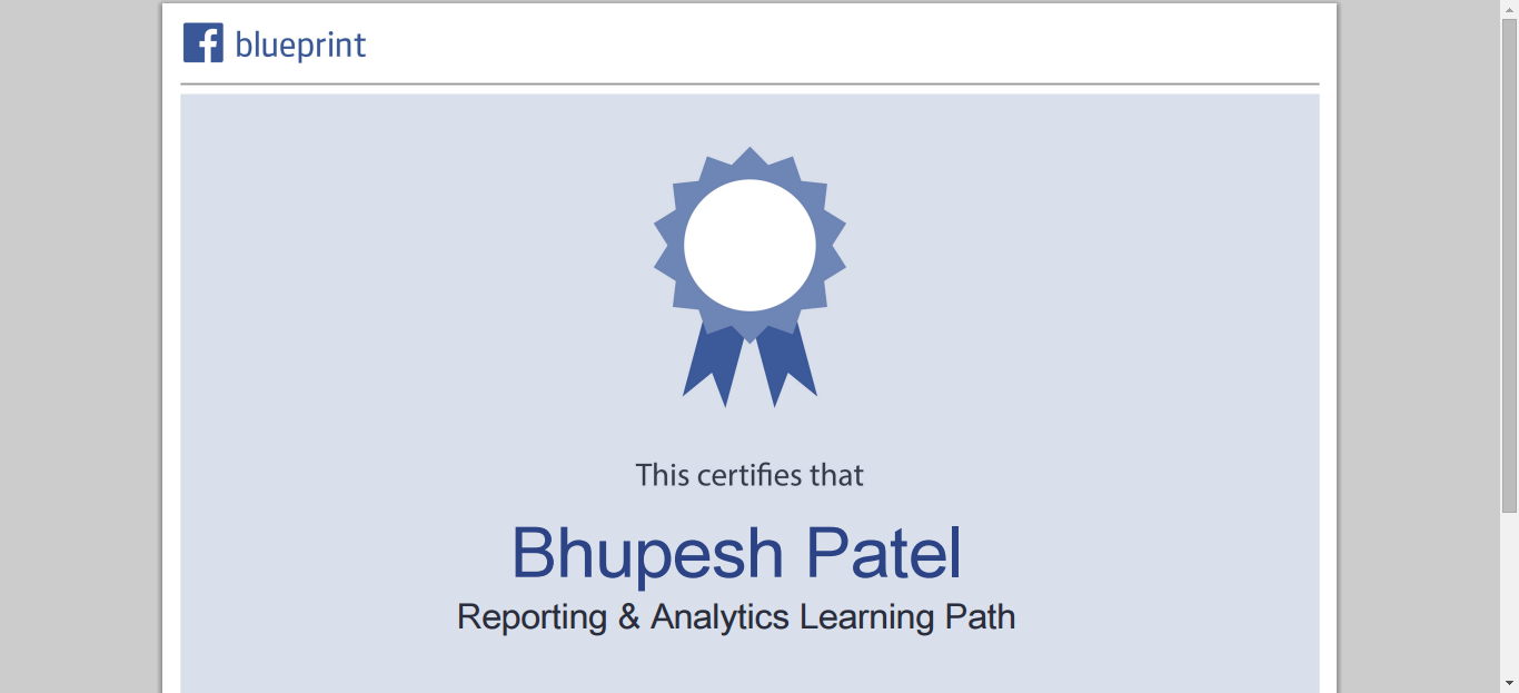 Facebook certification for analytics reporting powered by facebook certification for analytics reporting powered by facebook blueprint malvernweather Choice Image