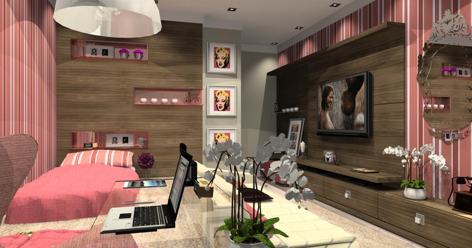 Dise o de dormitorios juveniles para chicas dormitorios for Diseno de habitaciones para adolescentes