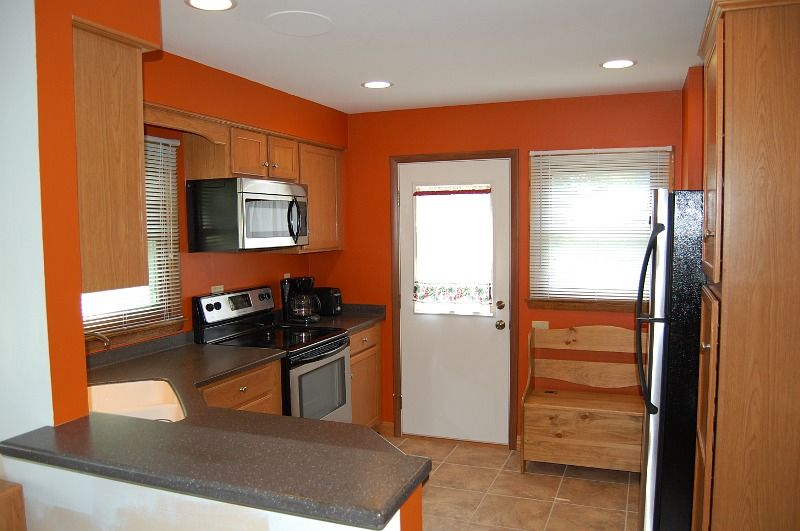 orange kitchen ideas Home Decorating  Organization Pinterest