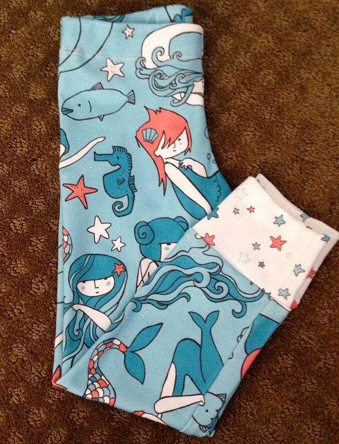 Bondi Organic Mermaid Leggings by BondiWear on Etsy