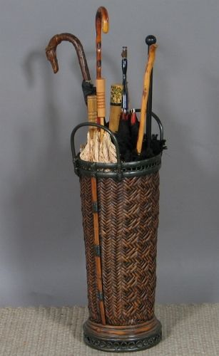 Pin By Marysue Sander On Decorative Arts Basketry Umbrella Stand Caning Umbrella
