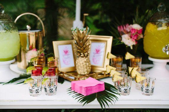 Ideas For The Tropical Themed Wedding: Aloha Themed Bridal Shower Decor