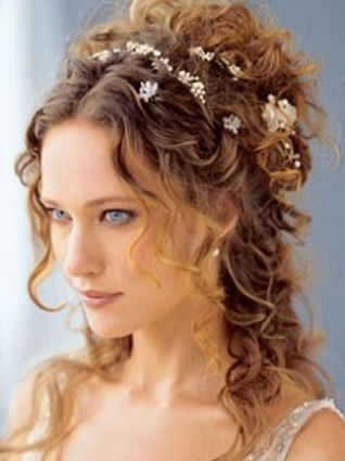 wedding hairstyles for naturally curly hair 50+ best outfits - wedding hairstyles  - cuteweddingideas.com