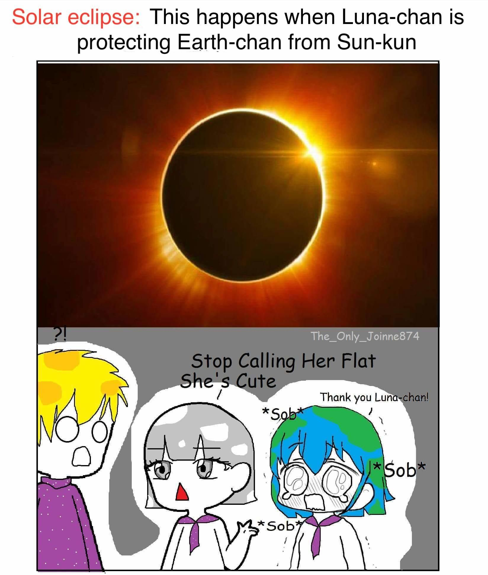 Solar Eclipse Earth Chan Space Anime Earth Earth Memes