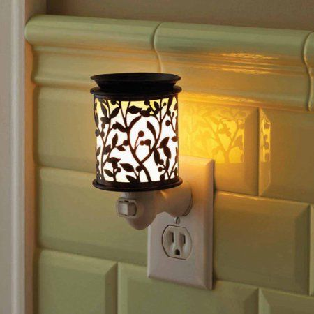 better homes and gardens lighting. better homes and gardens accent wax warmer, botanical glow - walmart.com lighting