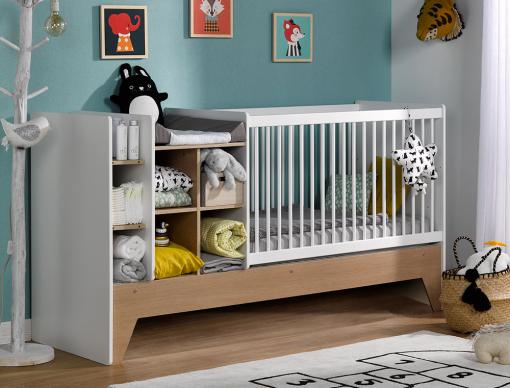 Lit Bebe Combine Evolutif Blanc Bois Ecrin Bed Cribs Baby