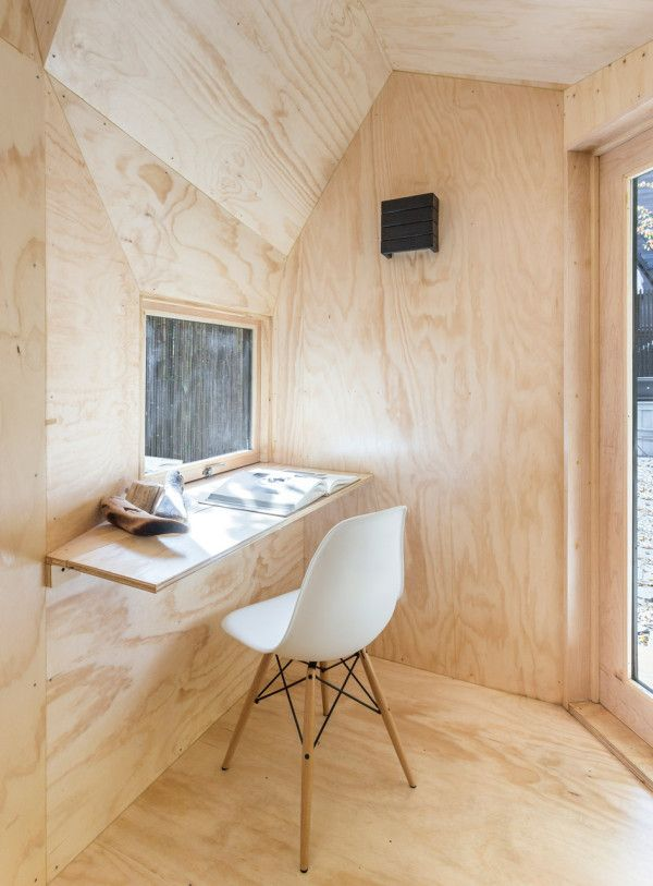 Escape The City With This Small Modern Retreat Plywood Interior Wood Interiors Design