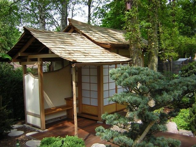 Exteriors of japanese houses exterior other metro by for Modern japanese tea house design