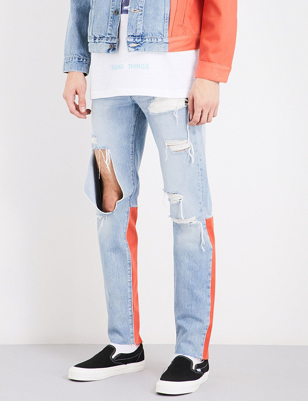 OFF-WHITE C O VIRGIL ABLOH Off White c o Virgil Abloh x Levi s Made    Crafted slim-fit skinny jeans 8d185be5afc
