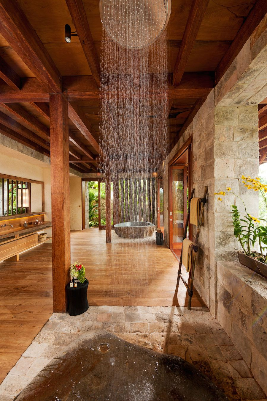 Villa Cliffland Bali House In The Woods Ubud Outdoor Bathrooms