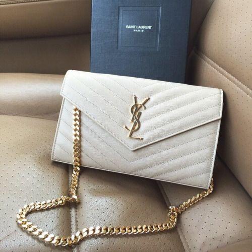 White Ysl In 2019 Bags Prada Handbags Ysl Bag