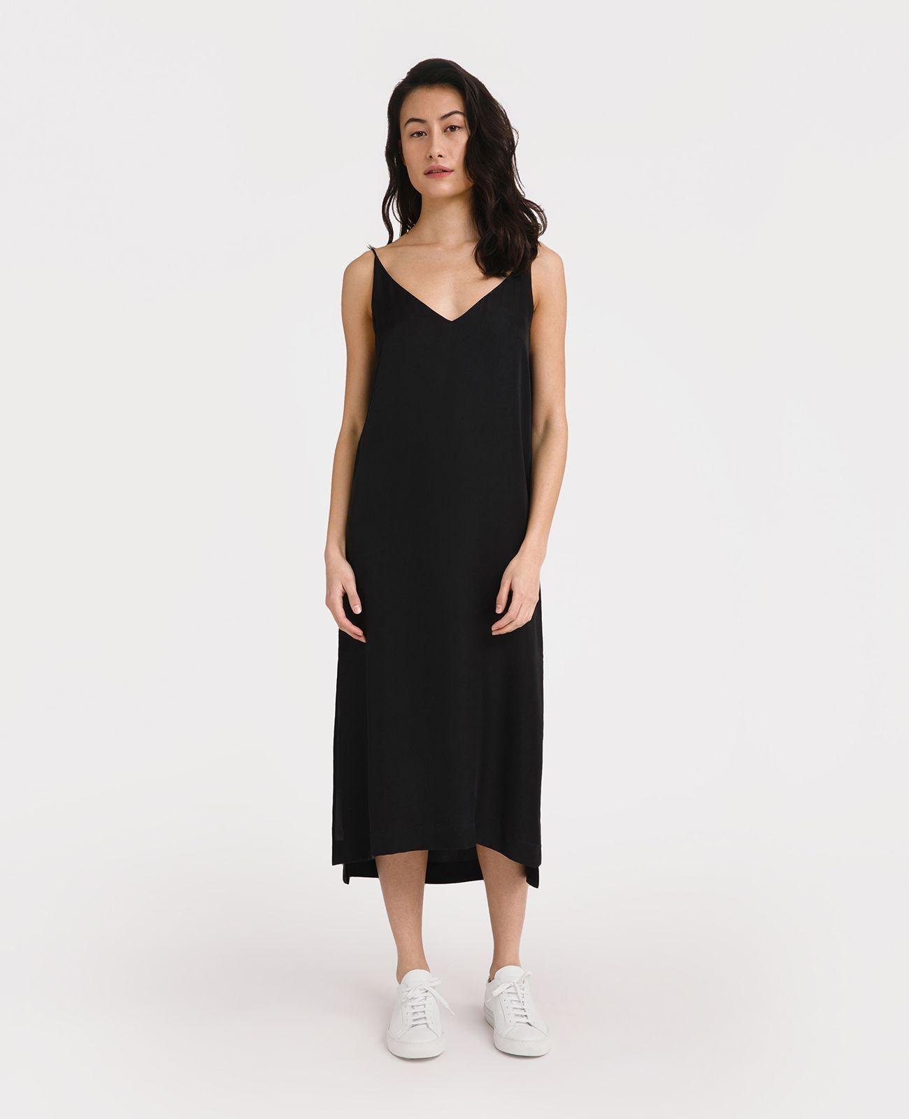 ed9f2af9fd4c Silk V-Neck Slip Dress in 2019   Wishlist   Dresses, Silk, Silk slip