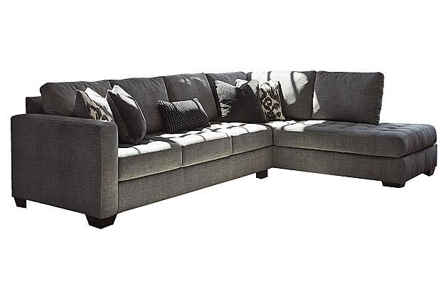 Purple Small Apartment Size Sectional Sofa Covered With Solid