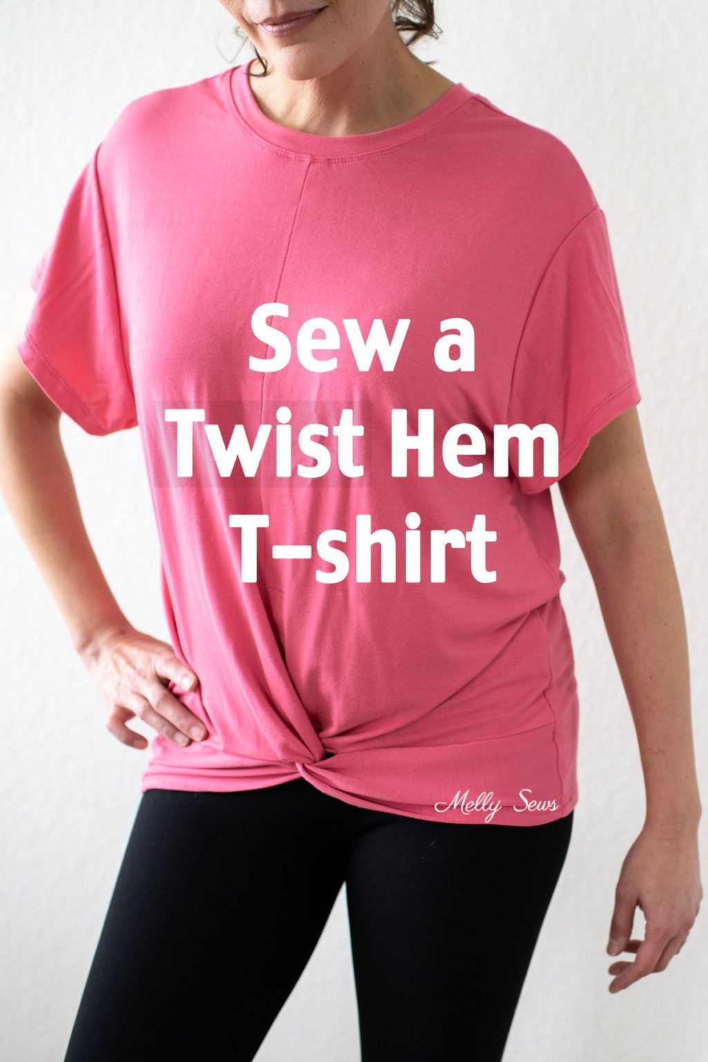 How to sew a twist hem tshirt melly sews knotted