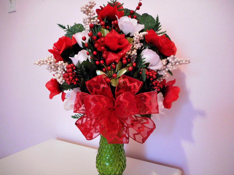 Silk flower arrangement mothers day bouquet red roses and vase silk flower arrangement mothers day bouquet red roses and vase cemetery bouquet reviewsmspy