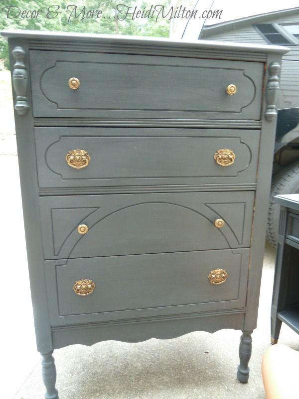 DIY Annie Sloan Graphite Furniture Makeovers DIY