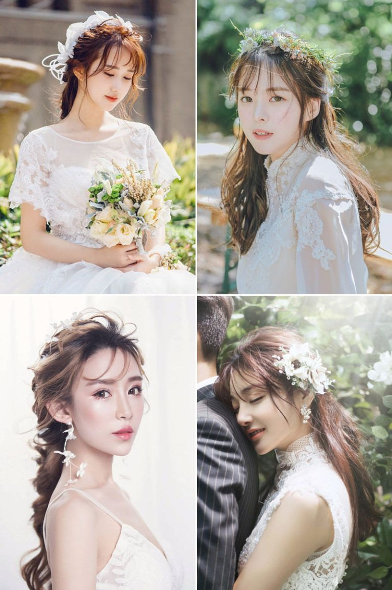 How To Style Your Bangs 16 Beautiful Bridal Hairdos With Bangs