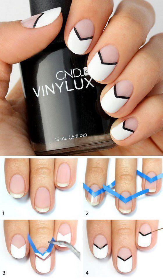 Ideas para hacer un diseño de uñas facil | makeup | Pinterest ...