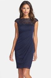 special occasion dress for fall wedding. Xscape Beaded Jersey Sheath Dress