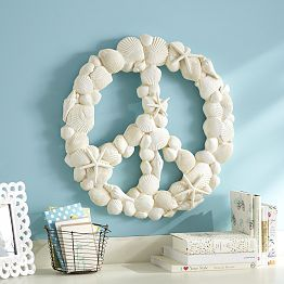 DIY - Shells with Peace symbol