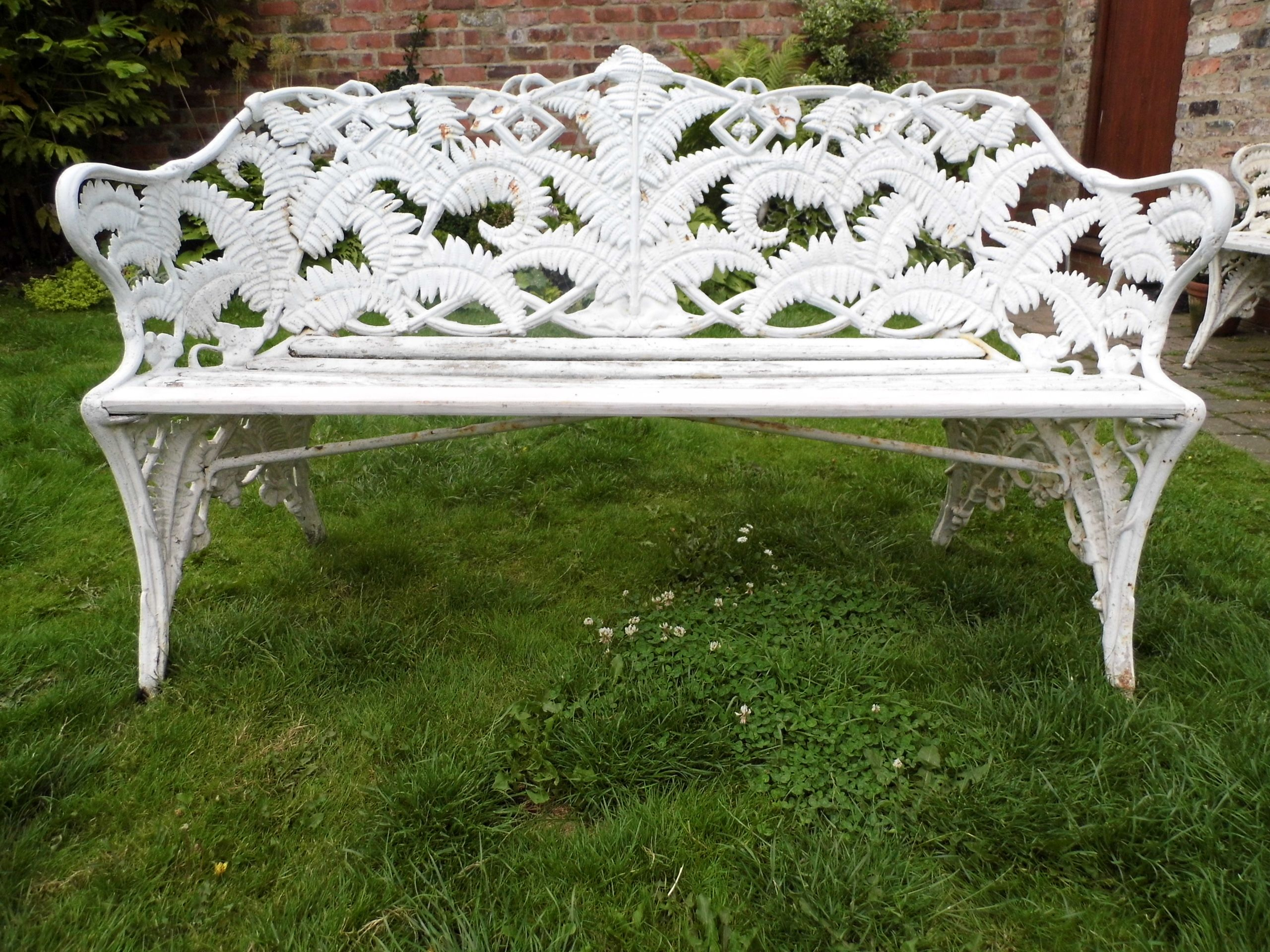 Coalbrookdale Fern And Blackberry Cast Iron Bench.