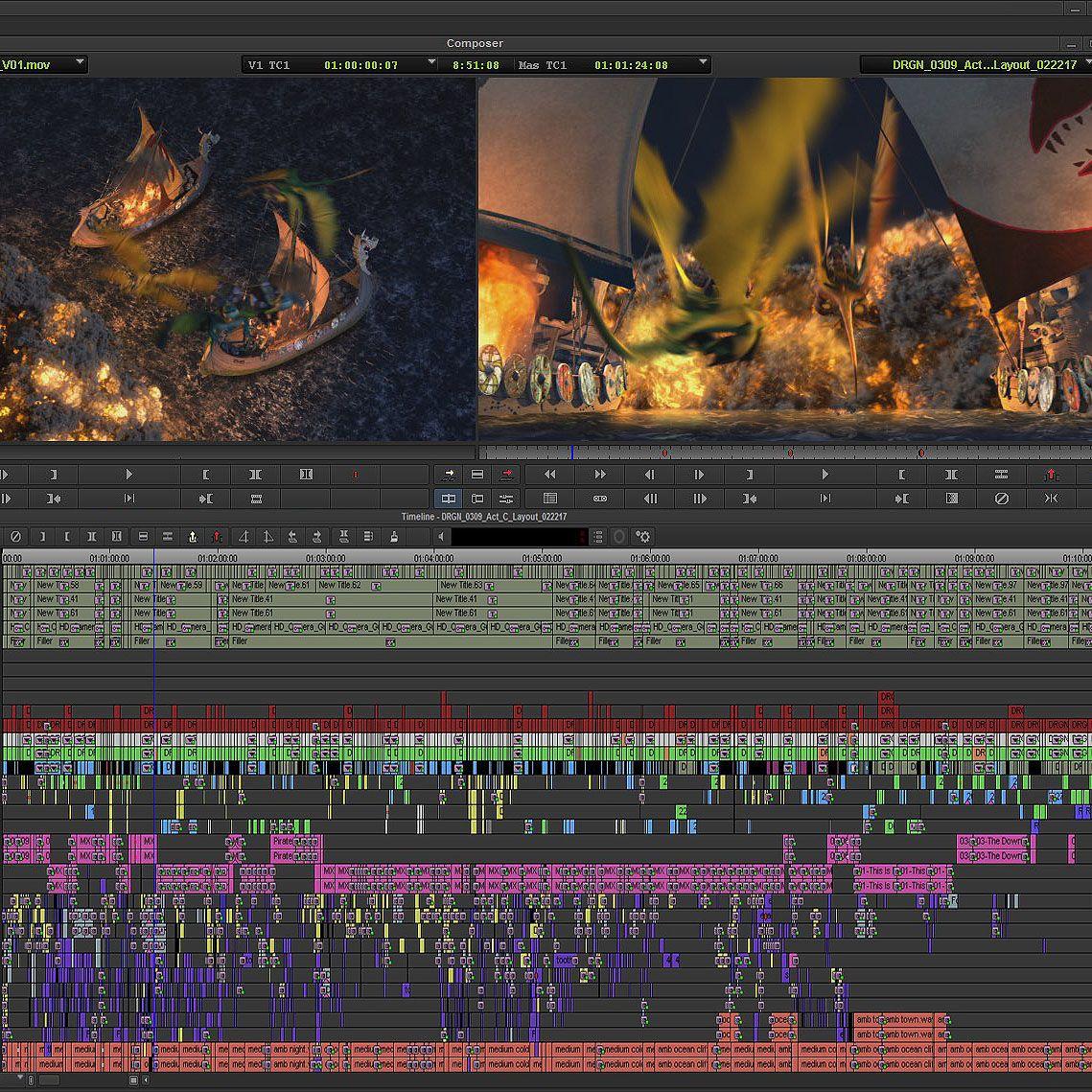 Timeline Dreamworks Dragons By Joel Fisher Dragons Animation Postproduction Mediacomposer Avid Video Editing Software Dreamworks Dragons Video Editing